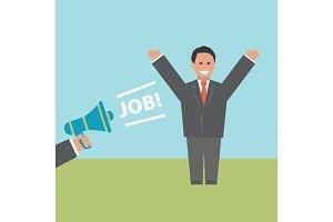 Job. Concept business illustration