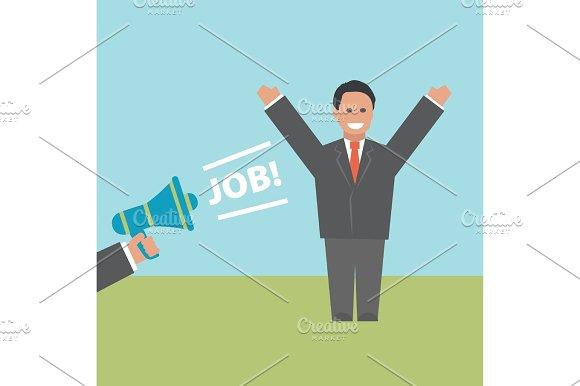 Job. Concept business illustration in Illustrations