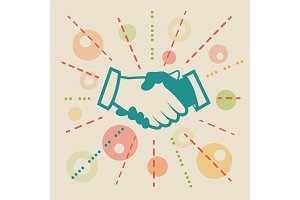 Handshake. Concept business illustration