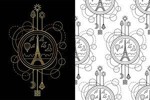 Paris Tattoo+Seamless Patterns
