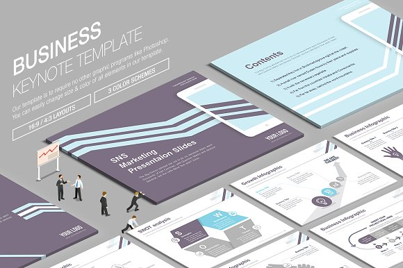 Business Keynote Template vol.13