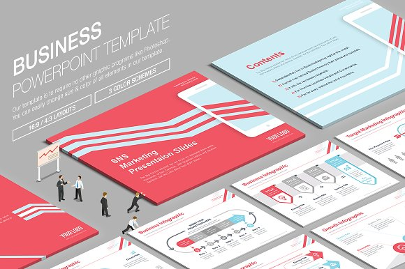 Business Powerpoint Template vol.13