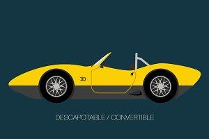 classic convertible american car