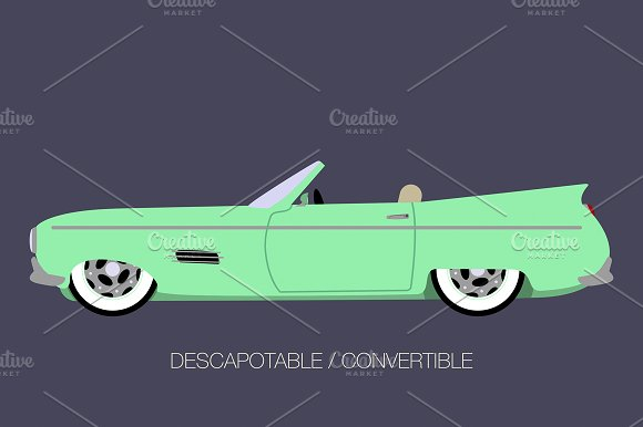 convertible car in Illustrations