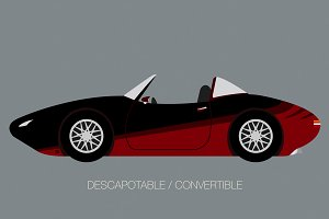 convertible sport car side view