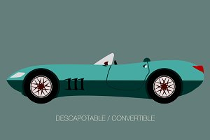 sport convertible car vector