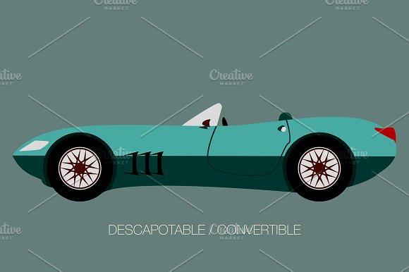 Sport Convertible Car Vector