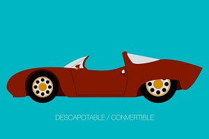 super car convertible icon