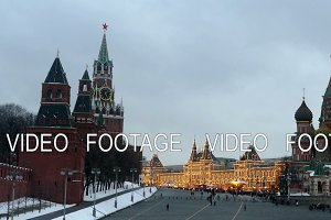 Kremlin and St. Basil's Cathedral and GUM