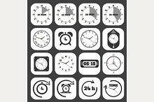 Black clocks icon