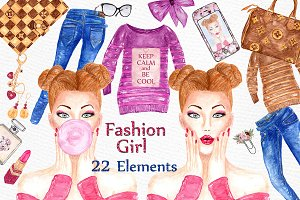 Fashion Girl clipart