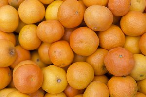 Tangerines on the farmers market