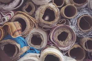 Cloth and Textile on rolls