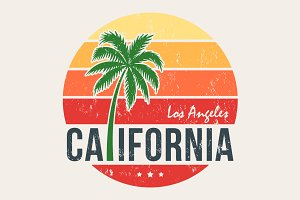 California tee graphic