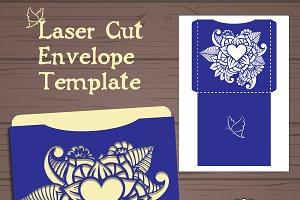 Lasercut vector envelope template