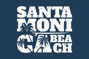 Santa Monica California graphic