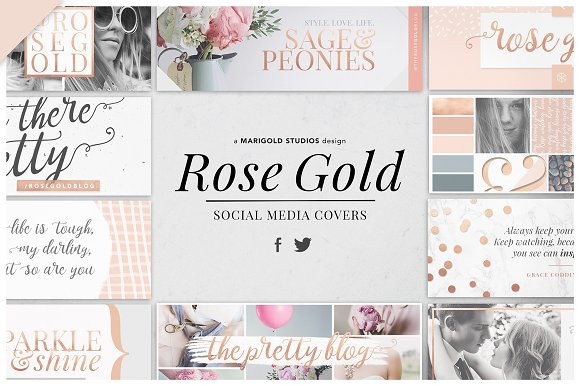 ROSE GOLD Social Media Covers