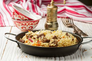Pilaf with beef