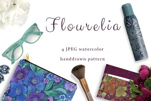 SALE! FLOURELIA watercolor