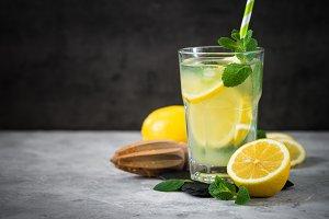 Lemonade Traditional Summer drink.