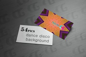 dance disco effect background