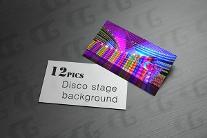 DJ disco stage background