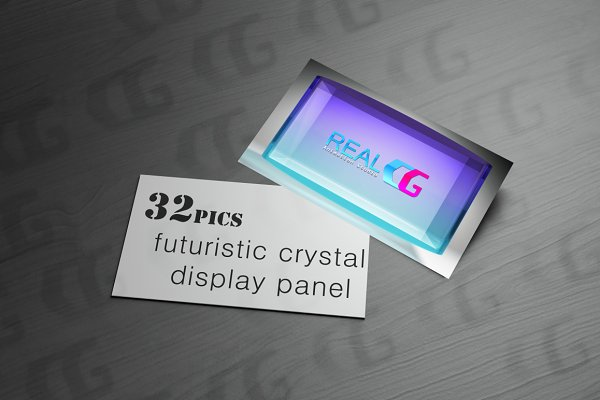 futuristic crystal display panel