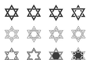 Star of David icons