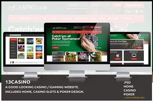 Casino & Poker Website Template -PSD