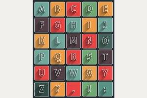 Long shadow alfabet