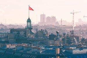 City rooftops Paris, France