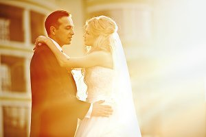 Warm picture of wedding couple