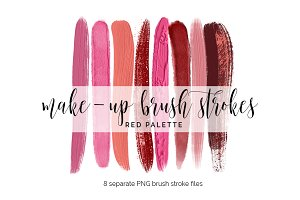 Brush Strokes Clipart - red palette