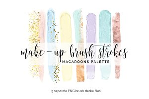 Brush Strokes Clipart - macaroons