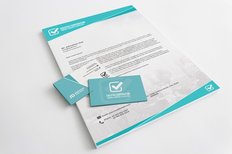 Letterhead And Business Card ~ Stationery Templates ~ Creative Market