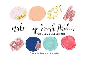 Brush Strokes Clipart - circles 1