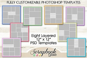 Layered PSD Photo Collage Templates