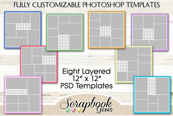 Layered PSD Photo Collage Templates Templates Creative Market