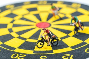 cycling on dart board