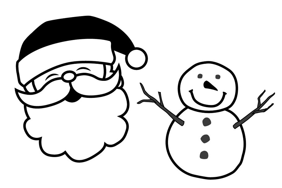 B&W Christmas Icons in Christmas Icons - product preview 1