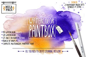 50% Off Watercolor Paintbox Mega Kit