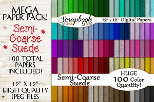100 Colors Semi-Coarse Suede Papers
