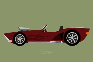custom convertible car