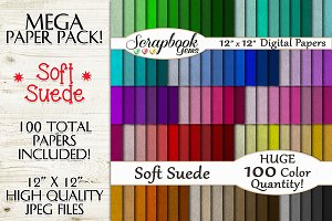 100 Colors Soft Suede Leather Papers