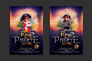 Pirate Kids Party Flyer