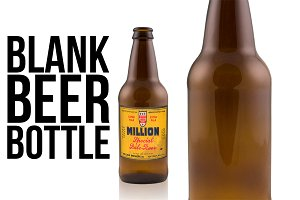 Knocked out beer bottle - 12 oz.