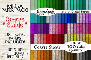 100 Colors Coarse Suede Papers