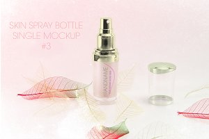 Skin Cream Spray Single Mockup #3