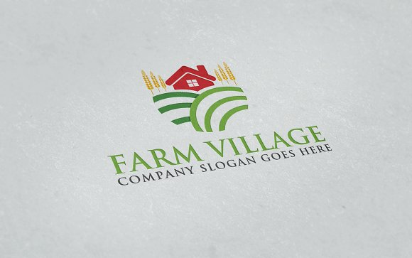 farm village logo logo templates creative market