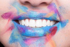 lips closeup lipstick woman makeup